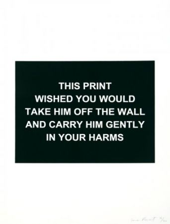Etching Prouvost  - This print wished you would....