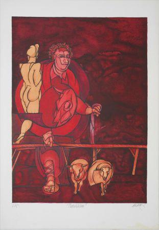 Lithograph Adami - Thorvaldsen