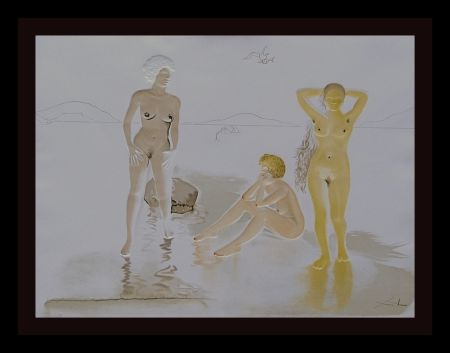 Etching Dali - Three Graces of Cova d'Or