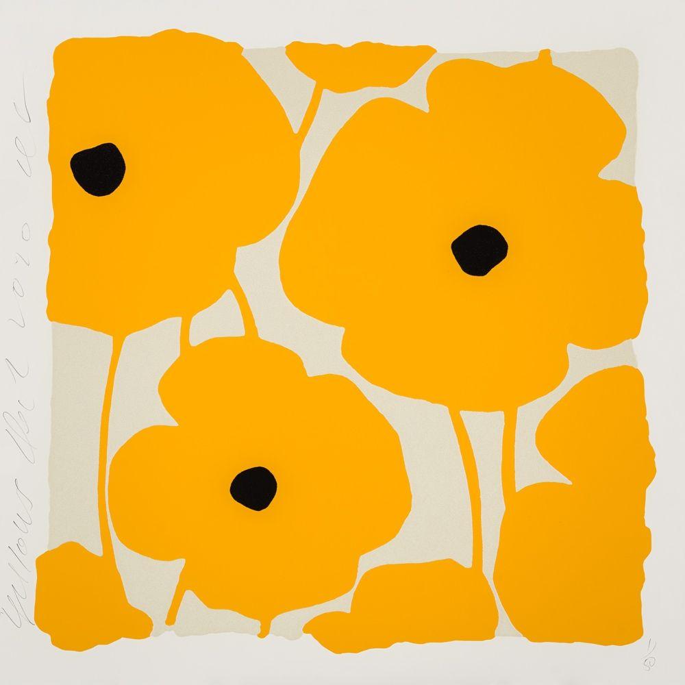 Screenprint Sultan - Three Poppies (Yellow)
