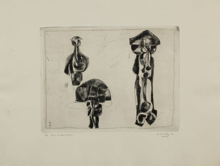 Etching Hadzi - Three Sculpture Studies
