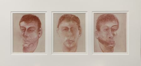 Lithograph Bacon - Three studies for a portrait of John Edwards
