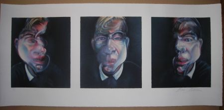 Lithograph Bacon - Three studies for a Self-Portrait