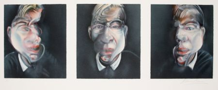 Lithograph Bacon - Three studies for a Self-portrait, 1981