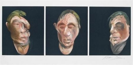 Lithograph Bacon - Three Studies for a Self Portrait