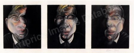 Lithograph Bacon - Three Studies for a Selfportrait
