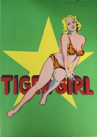 Lithograph Ramos - Tiger Girl