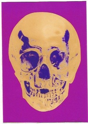 Screenprint Hirst - Till Death do us Part - Long life Purple African Gold Purple Imperial Purple Skull