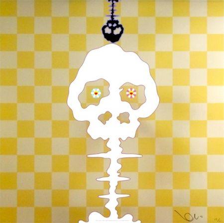 Lithograph Murakami - Time Bokan - Gold