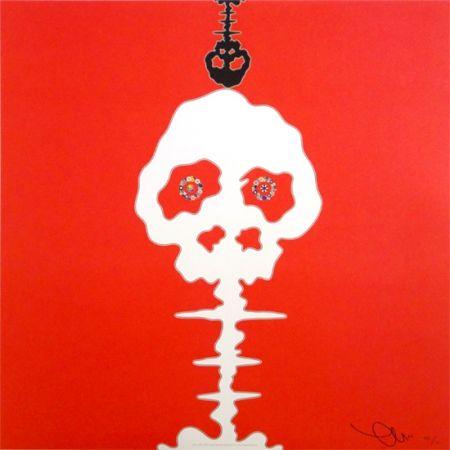 Lithograph Murakami - Time Bokan - Red