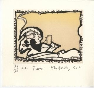 Etching And Aquatint Alechinsky - Tison