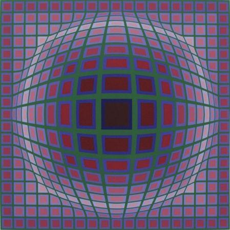 Screenprint Vasarely - Titan A