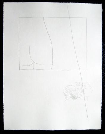 Etching Picasso - Title:Fragment de corps de femme  Fragment of a woman's body