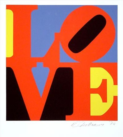 Screenprint Indiana - To Draw a Straight Line from The Book of Love