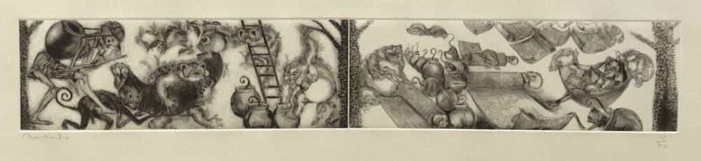 Etching Toledo - Toads and Monkeys