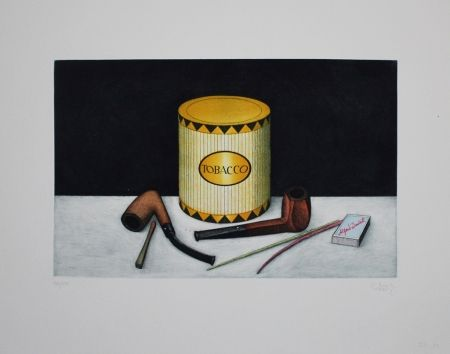 Etching And Aquatint Moritz - Tobacco