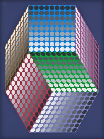 Screenprint Vasarely - Togonne