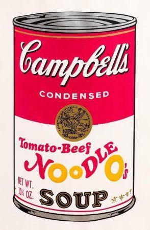 Screenprint Warhol - Tomato-Beef Noodle O's (FS II.61)