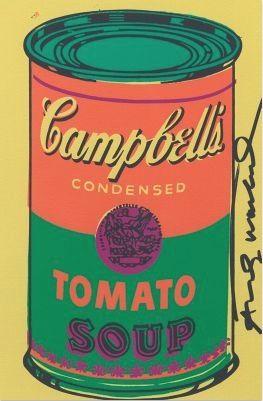 Lithograph Warhol - Tomato Soup Bookplate