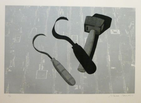 Etching And Aquatint Campeny - TOOLS SHADOWS SIGN
