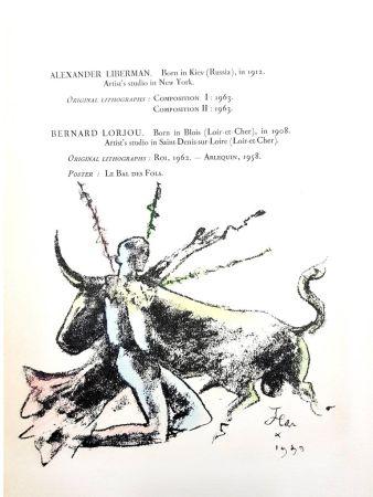 Lithograph Cocteau - Toréador