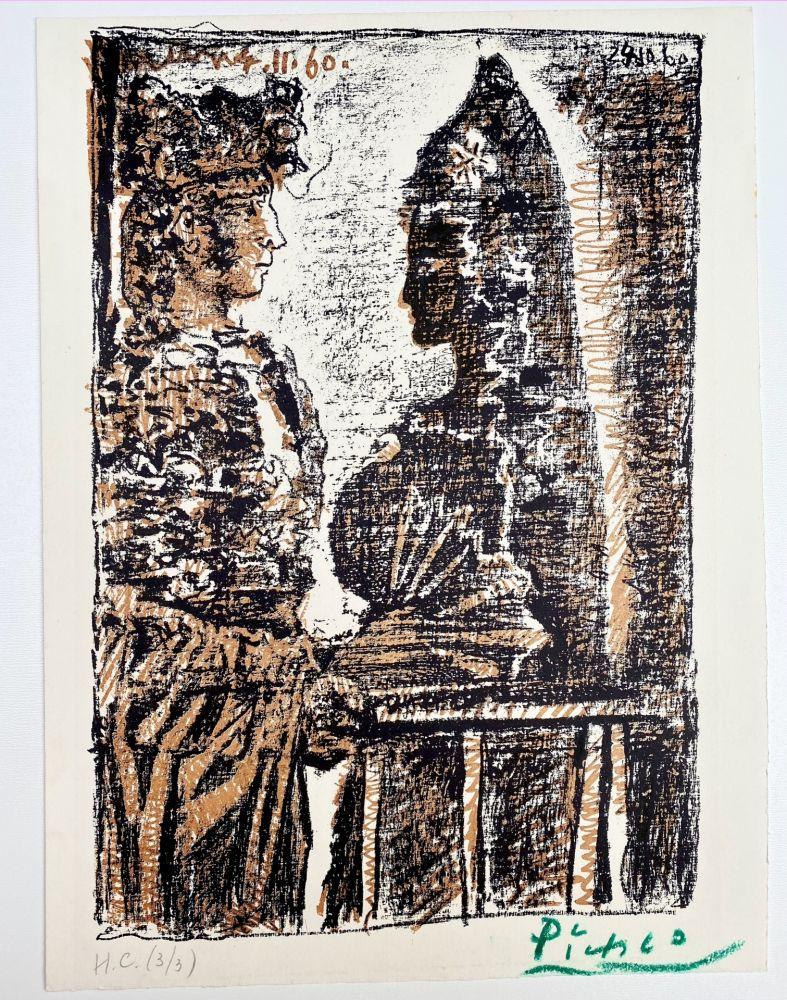 Lithograph Picasso - Torero y Señorita