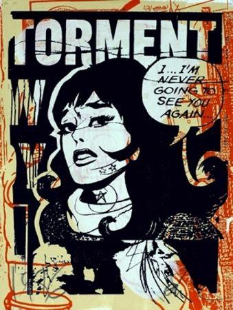 Screenprint Faile - Torment in Orange
