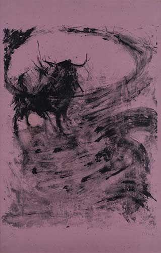 Lithograph Barcelo - Toros