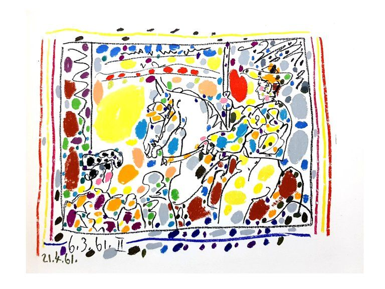 Lithograph Picasso - Toros