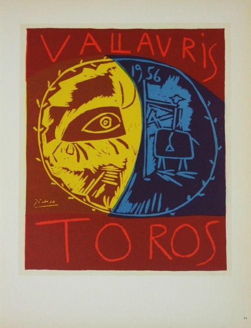 Lithograph Picasso (After) - Toros en Vallauris