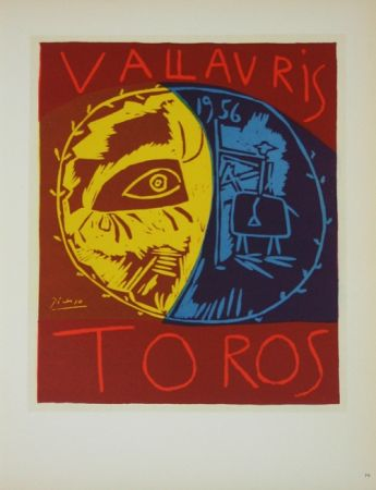 Lithograph Picasso (After) - Toros en Vallauris