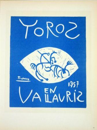 Lithograph Picasso - Toros en Vallauris