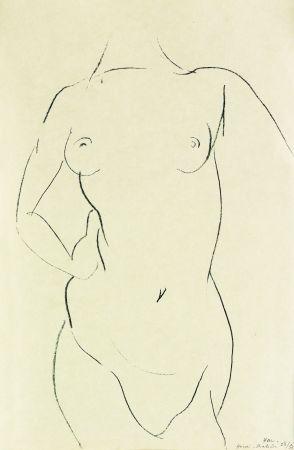 Lithograph Matisse - Torse de face