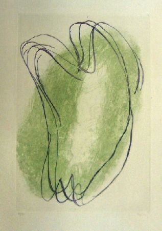 Etching And Aquatint Fautrier - Torses en deux couleurs