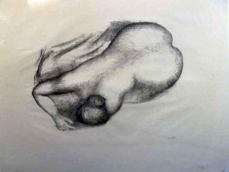 Lithograph Maillol - Torso
