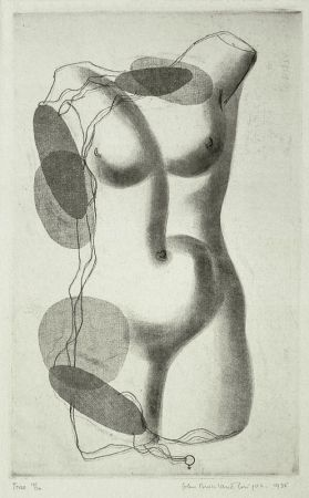 Etching Buckland-Wright - Torso