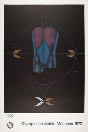 Lithograph Wunderlich - Torso / Olympische Spiele München 1972