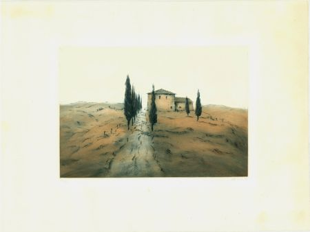 Etching And Aquatint Gortner - Toskanische Landschaft / Tuscan Landscape
