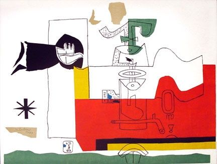 Lithograph Le Corbusier - Totem