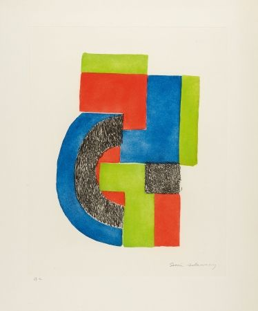 Etching And Aquatint Delaunay - Totem
