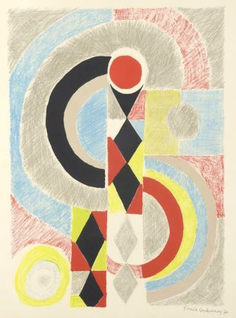 Lithograph Delaunay - Totem
