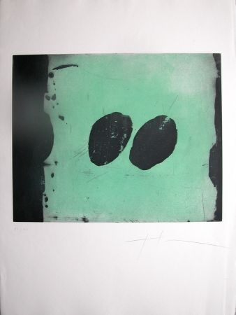 Aquatint Soulie - TOTEM VI -gravure de TONY SOULIE