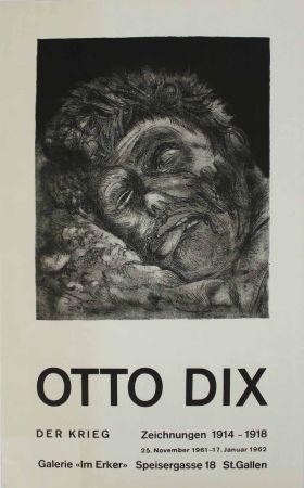 Lithograph Dix - Toter (St. Clément) [Dead Man (St. Clément)]