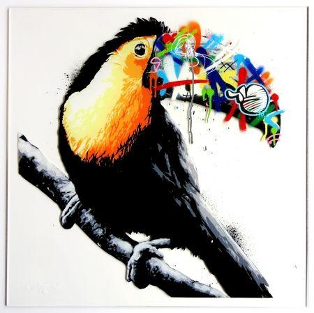 Screenprint Whatson - Toucan (acrylic)