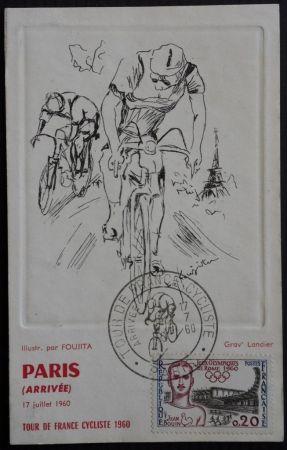 Engraving Foujita - Tour de France 1960