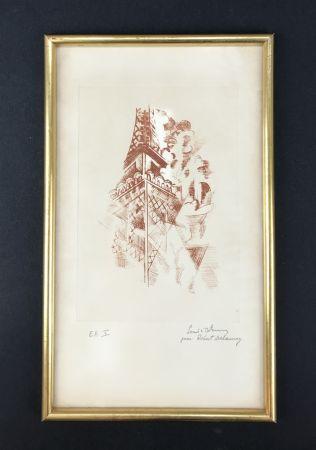 Engraving Delaunay - Tour Eiffel