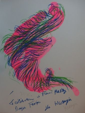Lithograph Messagier - Tourbillon rose