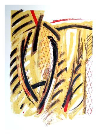 Lithograph Titus Carmel - Tournant de l'hiver