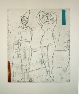 Etching And Aquatint Marini - Tout près de Marino