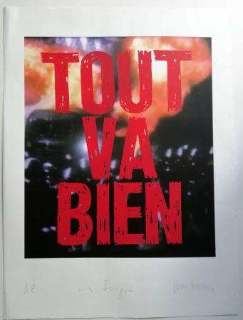 Screenprint Muntadas - Tout va Bien